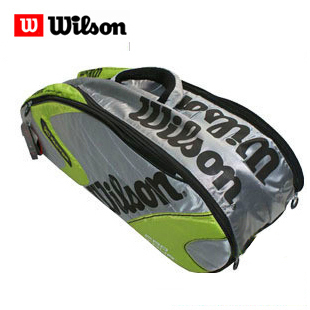 Wilson k Pro Tour six pack tennis bag shoulder bag Green/silver WRZ8102
