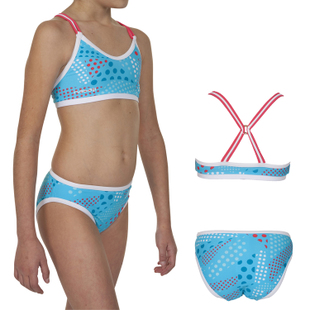 Decathlon youths/girls swimwear NABAIJI NAUTICO DOTTY 2PG