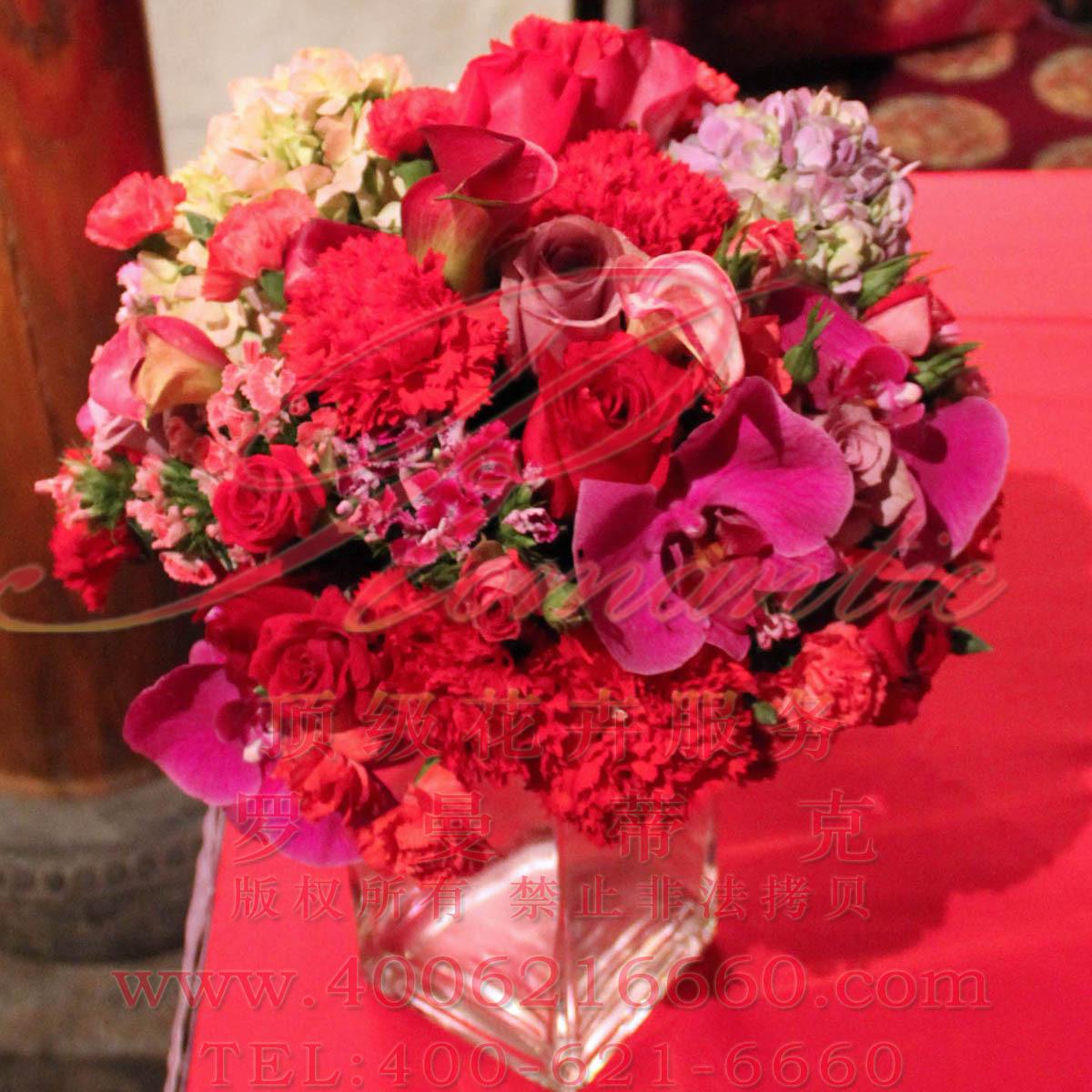 大宅门中式婚礼鲜花布景|实拍113a3|蝴蝶兰石柱梅绣球图片