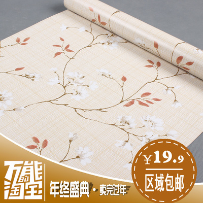Modern Chinese PVC wallpaper background wallpaper the living room bedroom den home improvement store modified self-adhesive sticky