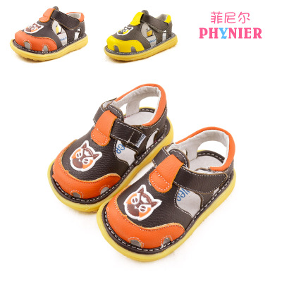 New Leather Baotou Baby Boy Sandal Shoes 1 2 2 To 3 Years Old