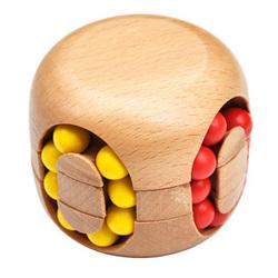 创意汉堡魔方成人古典木制益智走珠魔方