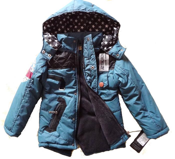 Пальто детское Для молодых мужчин Зима Смешанная ткань С подкладкой из хлопка Повседневный стиль