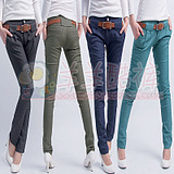 New Korean Emile verhaeren 2012 Summer pants ladies new stretch cotton blend thin code trousers