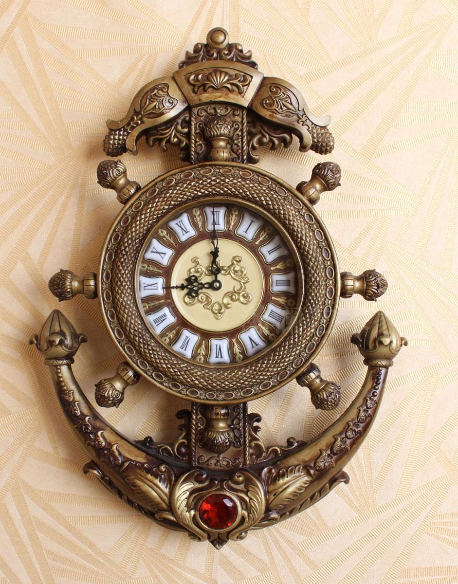 双面静音挂钟_美式复古钟表欧式挂钟客厅静音