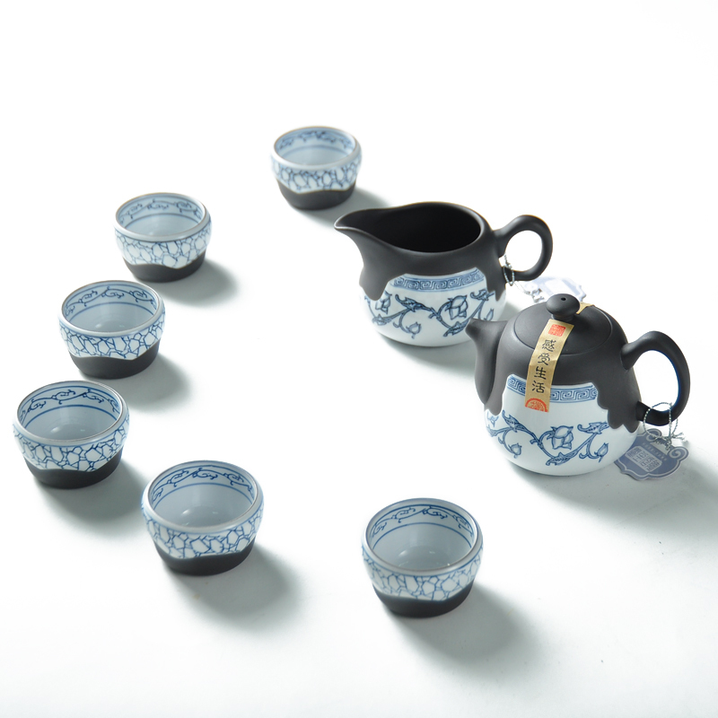 Xiang Fu tea Taiwan blue Hao Yue boutique first ceramic set box super value TC237