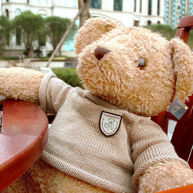 复古泰迪熊公仔 毛绒玩具抱抱熊 可爱大号娃娃结婚礼物压床娃娃