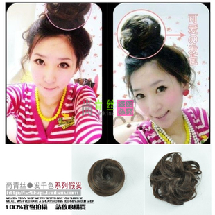 Spathe-hair for black hair letting small packet bun head meatball toudao value $ 6.9
