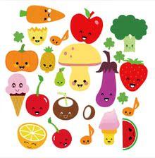 三代水果蔬菜墙贴纸果宝客厅儿童房卧室餐厅幼儿园布置家装墙贴画
