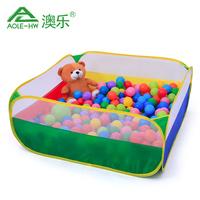 澳乐 网布四色拼接海洋球池 儿童帐篷游戏屋 宝宝波波球玩具池