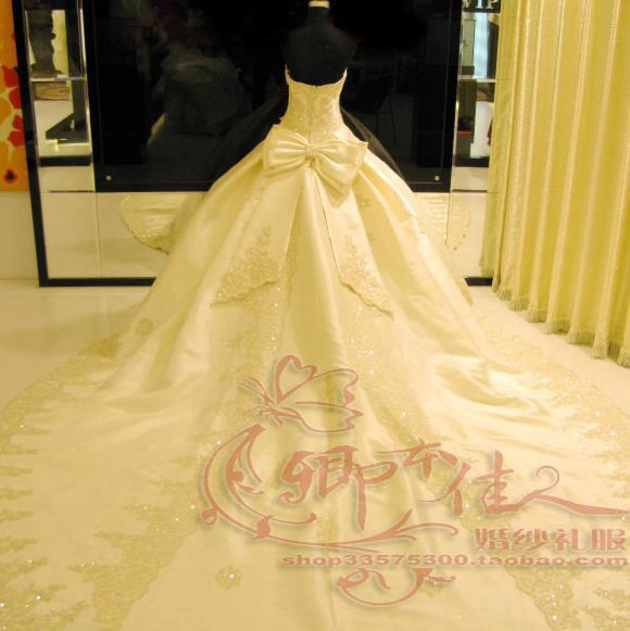 Свадебное платье Четыре алмаз «большая красивая женщина» высококлассные stomacher долго кружева свадебное платье новый 089 (с рисунком) Плотная ткань Длинный шлейф