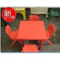 亏本清仓幼儿正方形塑料桌幼儿桌椅幼儿园设备学习桌特价塑料桌椅