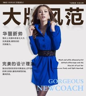 秋装新款韩版女装秋季潮流修身气质长袖大码收腰时尚连衣裙子