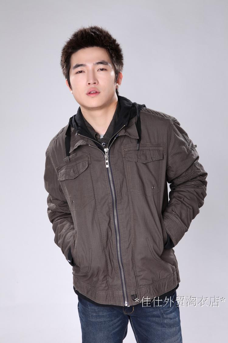 Куртка Maple m068 Джинсовая ткань Хлопок Воротник с капюшоном Модная одежда для отдыха