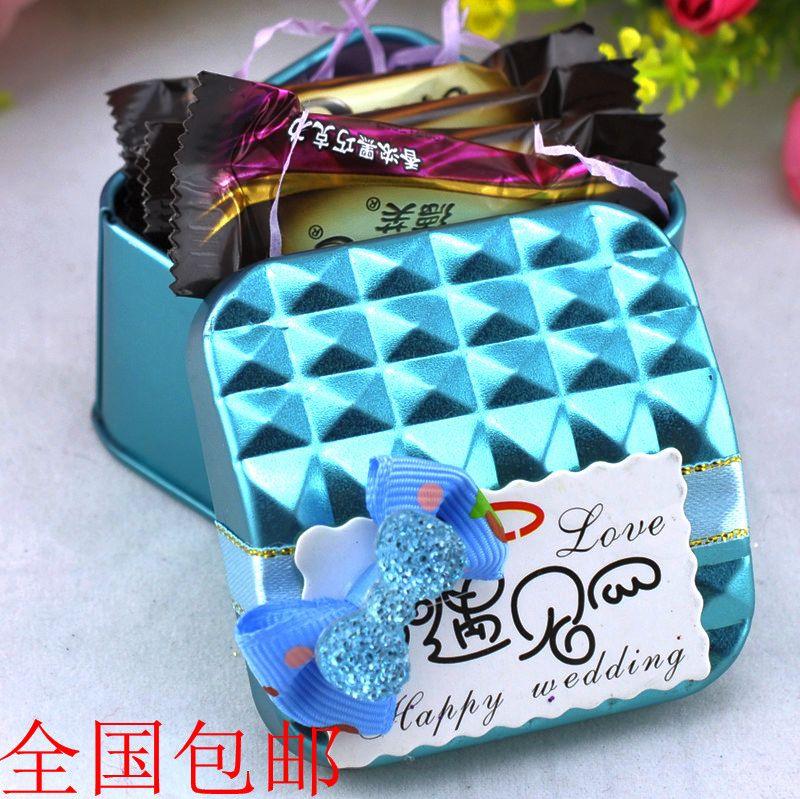 新品特价 创意马口铁盒 喜糖包装盒 婚庆用品 方形 喜糖盒子