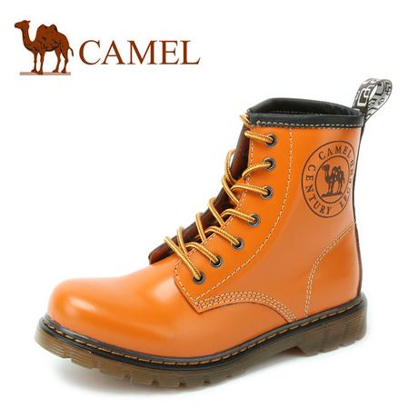 Camel/骆驼女靴低跟马丁靴女鞋 冬春季女式靴子短靴女中筒商品大图