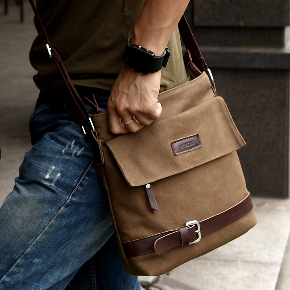 Shepherd Plaza new simplicity of men men's leisure baodan shoulder bag bags canvas bag men Messenger bag