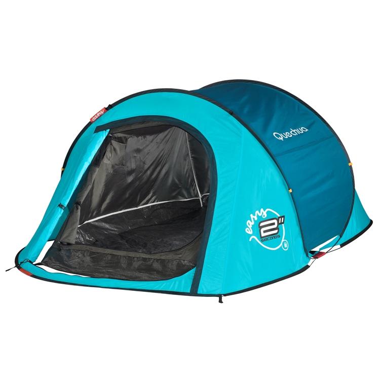 迪卡侬 QUECHUA 双人双层防雨帐篷(防雨/防紫外线/2秒快速开合)