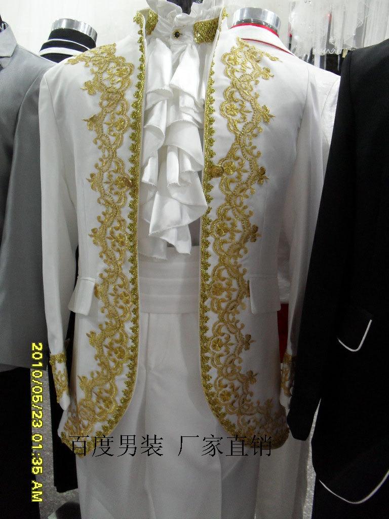 男士礼服/主持人服装 演出服/司仪礼服/新郎礼服/宫廷装礼服