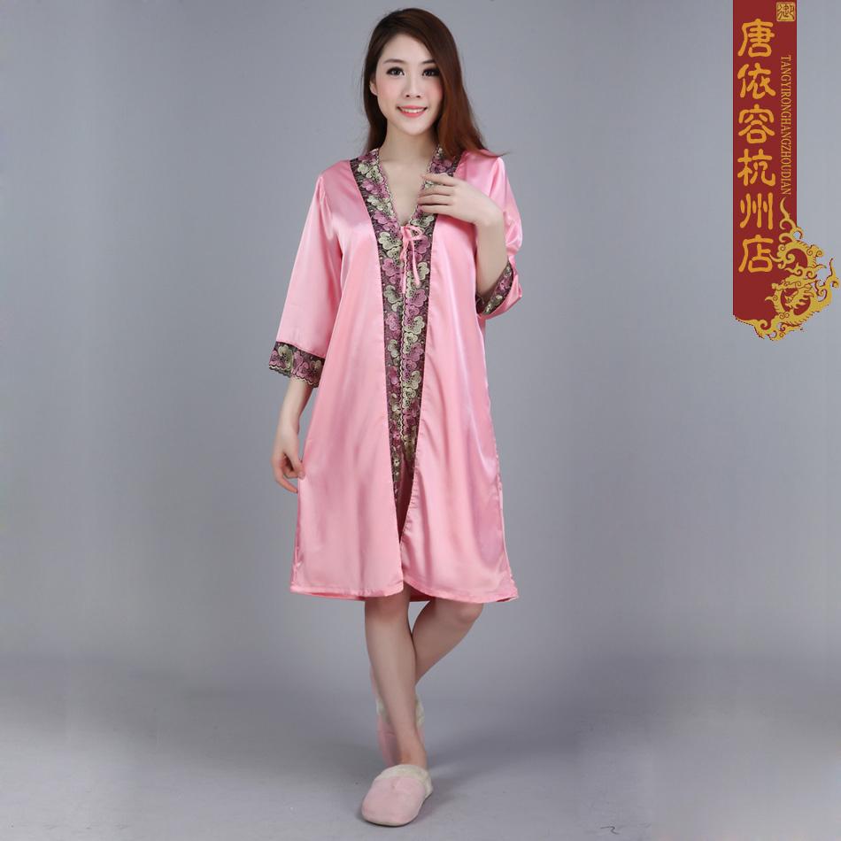 Ночная рубашка Xiali people Другие материалы О-вырез Весна