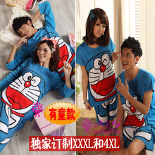 Ordered XXXXL fertilizer increasing large yards fat people men and women pajamas nutty household to take Lovers pajamas in the spring and autumn