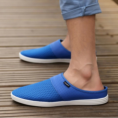 Chen Shi-summer men's shoes, sandals and slippers nest tide drift lazy half slippers Backless Korean fashion wave drag