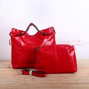 2013 手提五金扣女士包中包 子母真皮女包买大包送小包
