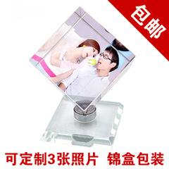 水晶魔方照片 相片影像制作旋转立方体爱情diy送女友生日礼物