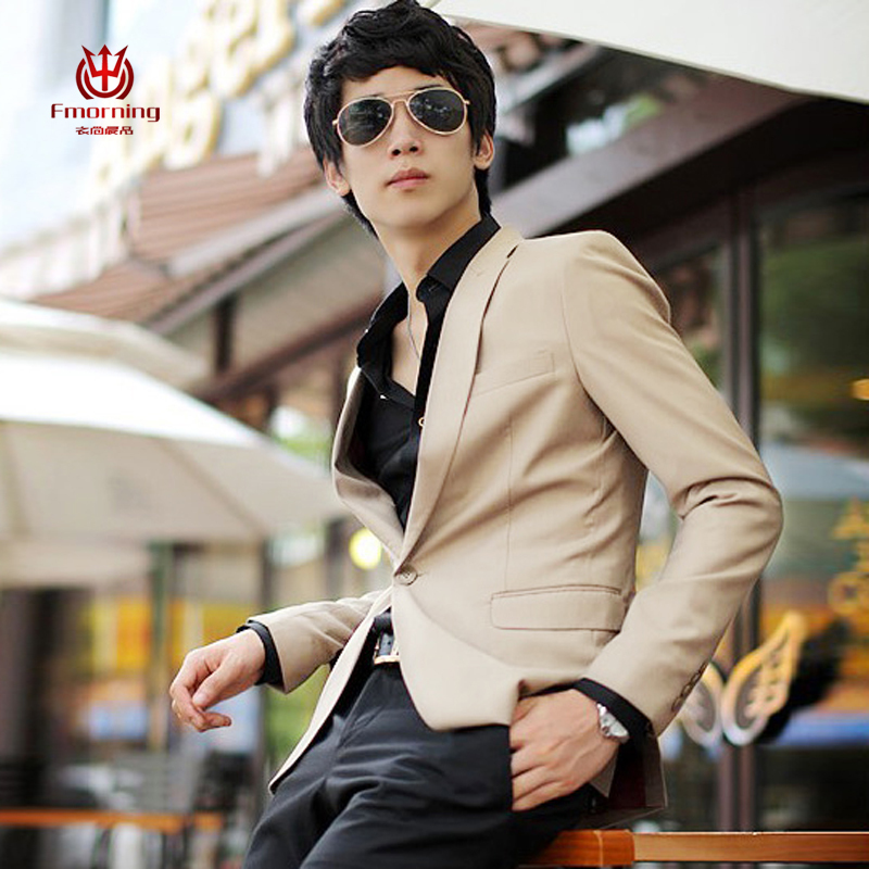 2013新款男士商务休闲西装 潮流男式韩版修身西服外套 结婚礼服02