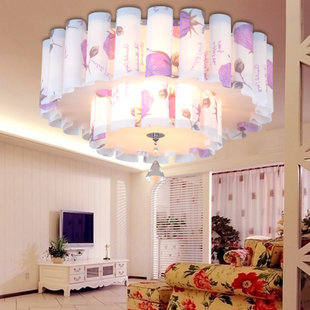Simple modern PVC parchment lamp bedroom study lamp living room chandelier fashion wedding room ceiling light X-PVC256