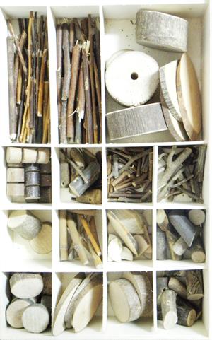 小八腊子创意diy低结构树木篇 韩国原木手工制作礼盒装 树枝木片图片