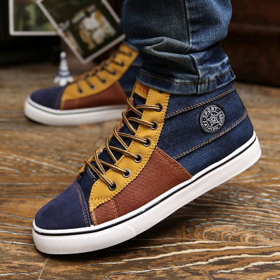 Autumn and winter canvas shoes men shoes men Korean student youth influx of men cloth shoes casual plus velvet shoes high-top
