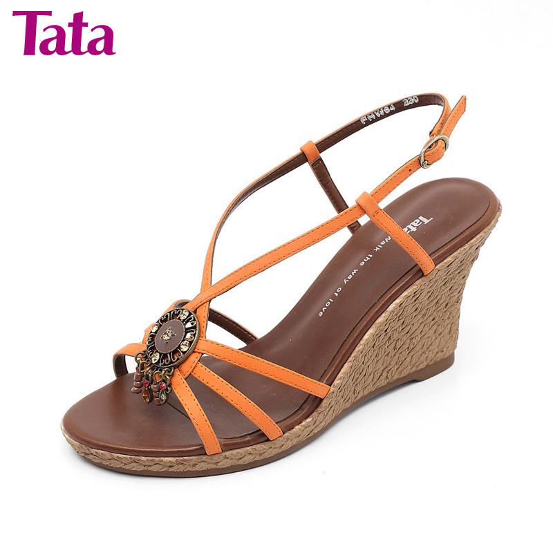 Босоножки Tata fhw64d Высокий каблук (более 8 см) Летом 2011 года Верхний слой из воловьей кожи
