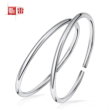 Silver bracelet 999 sterling silver bracelet female models glossy one thousand fine silver handmade ring T044 Korean fine