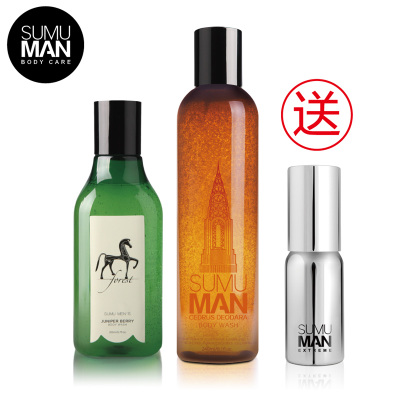 SUMU MAN Su Mu genuine men Men Shower Gel Gift Set 2 bottles of pressure oil control refreshing