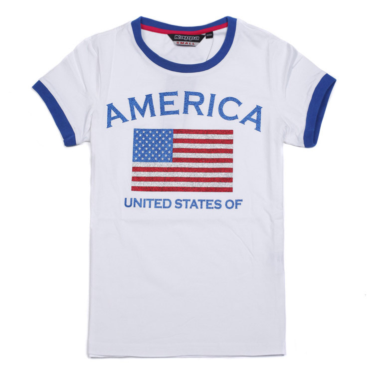 Спортивная футболка KAPPA k0142td24/001 4.5 K0142TD24-001 О-вырез Короткие рукава ( ≧35cm )