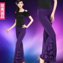 Joker flares female adult modern pants big feet wide leg Companionship ballroom dance acrobatics wide-legged pants pants performance