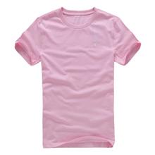 [满200减80] 唐狮正品夏男圆领纯色纯棉短袖T恤#111211022425