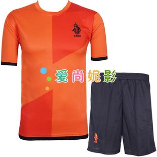 New Netherlands national team football men's soccer suits match clothing short sleeve shirts children's football clothing