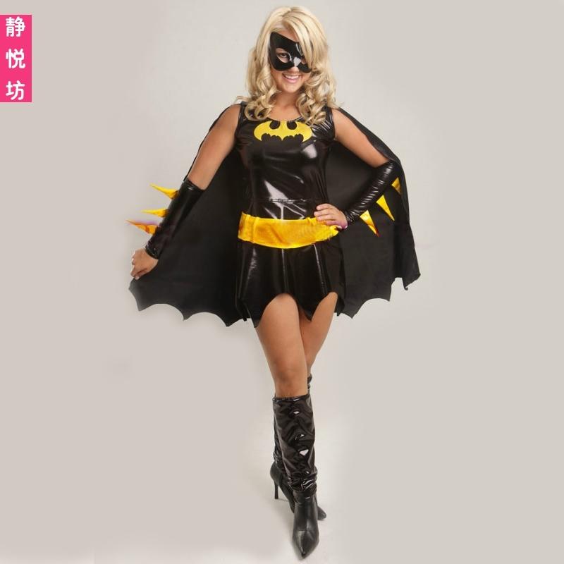女王变装制服派对女巫装恶魔装夜店场蝙蝠侠万圣节服装DS演出服装