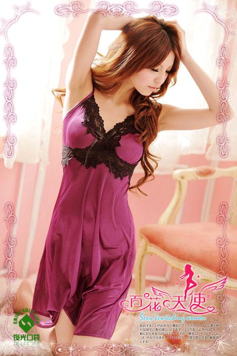 кушетка для сексуальных игр Сексуальное белье черного кружева и шелковистой фиолетовый сексуальная ночная рубашка Сексуальное белье Разные