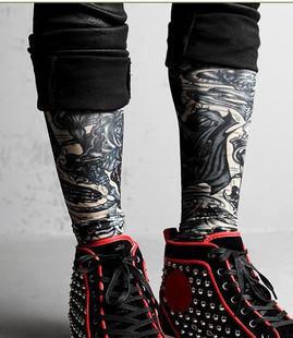 韩版纹身刻龙袜套臂套男