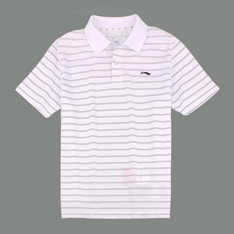 Рубашка поло Li Ning aple295/3 LINING POLO APLE295-3 Для мужчин Полиэстер Стандартный Короткие рукава ( ≧35cm ) Логотип бренда Теннис