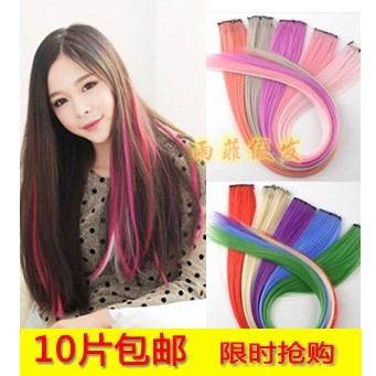Color hair piece Hair piece | highlights receiver | Japanese original SuFa pills High temperature wire can be very hot