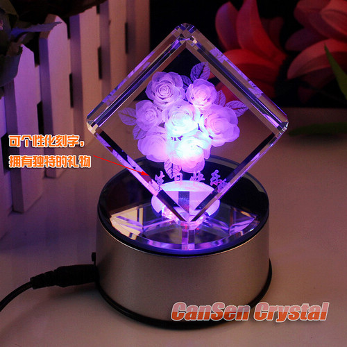 Cool sound Made in Taiwan solar cool tone color rotary table lamps Forever Love furnishings OP-2065-C