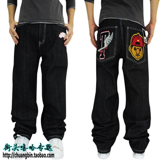Джинсы мужские Others trukfit Wezzy HIPHOP Штаны для скейтборда Классическая джинсовая ткань Хип-хоп стиль 2012