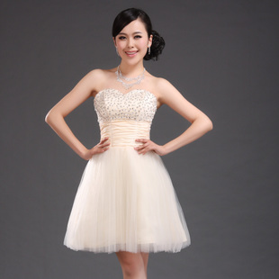 Very ling Ko 2012 latest sequins setting small Pearl strap evening dress bridesmaid bridal wedding dress specials LF068