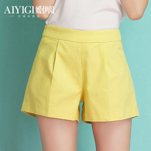 Ai Yi GUI 2014 Summer Dress New Model the Korean Version of a Word Female Plus Size Relaxed Wide Leg Shorts Casual Slim 019