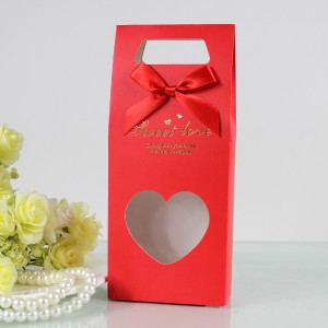 百合喜铺高档透明爱心喜糖盒新品欧式喜糖包装可装烟