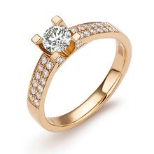 LANHO|蓝色多瑙河 晴虹 70分 18K白金钻石戒指|钻戒图片